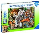 Puzzle 200 Dzikie koty XXL