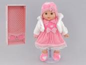 Lalka 40cm dziewczynka serca PL 536807 w pudełku