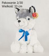 Maskotka pies Hasky siedzący duży 03477 DEEF