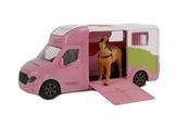 Auto różowe do przewozu koni z dźwiękiem 20cm