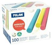 Kreda kolorowa okrągła niepyląca (100szt) MILAN