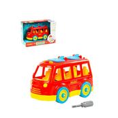 """Polesie 84798 Klocki-transport """"Autobus"""" 26 elementów w pudełku"""