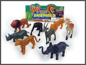 Zwierzęta dzikie 8szt 8cm w worku. HIPO