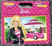 Zestaw książek z kredkami. Barbie