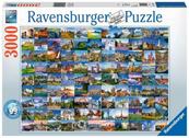 Puzzle 3000el 99 widoków Europy 170807 RAVENSBURGER