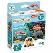 CzuCzu Puzzle panoramiczne Dinozaury 4+
