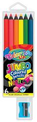 Kredki 6kol JUMBO neon w etui COLORINO 34654