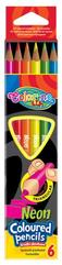 Kredki 6kol Neonowe COLORINO kids 33053