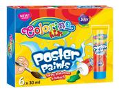 Farby plakatowe w tubach 6 kol. 35 ml. Colorino Kids new