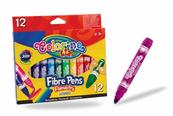 Flamastry z okrągłą końcówką Jumbo 12 kol Colorino Kids