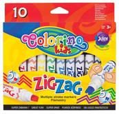 Flamastry Zig Zag 10 kol Colorino Kids