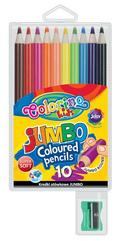 Kredki ołówkowe okrągłe Jumbo 10 kol + tem. Colorino Kids