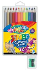 Kredki ołówkowe okrągłe Jumbo 12 kol + tem. Colorino Kids