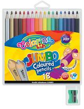 Kredki ołówkowe okrągłe Jumbo 18 kol + tem. Colorino Kids