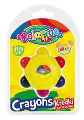 Kredki świecowe Gwiazdka 6 kol. Colorino Kids