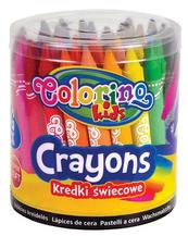 Kredki świecowe Jumbo 24 kol. wiaderko 48 sztuk Colorino Kids
