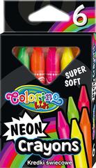 Kredki świecowe neonowe trójkątne 6 kol. Colorino Kids