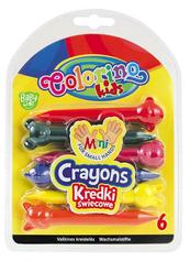 Kredki świecowe Zwierzątka 6 kol. Colorino Kids