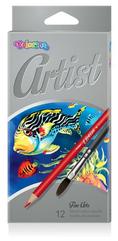 Kredki akwarelowe okrągłe ARTIST 12 kol. Colorino Kids 65528