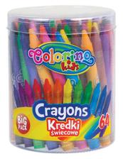 Kredki świecowe 64 kol. wiaderko Colorino Kids 33008
