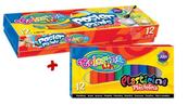 Farby plakatowe 12 kol. 20ml Colorino + plastelina 12kol Colorino gratis