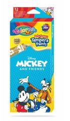 Farby tempera w tubach 12 kolorów 12ml Colorino Kids Mickey Myszka Miki
