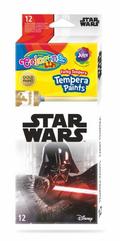 Farby tempera w tubach 12 kolorów 12ml Colorino Kids Star Wars