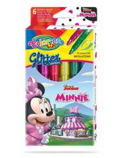Flamastry 6 kolorów brokatowe Colorino Kids Minnie Myszka Minnie