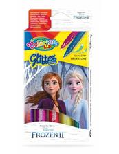 Flamastry 6 kolorów brokatowe Colorino Kids Frozen Kraina Lodu
