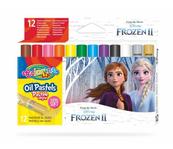 Pastele olejne trójkątne 12 kolorów + temperówka Colorino Kids Frozen Kraina Lodu
