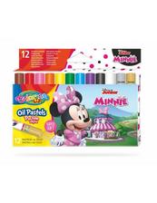 Pastele olejne trójkątne 12 kolorów + temperówka Colorino Kids Minnie