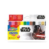 Pastele olejne trójkątne 12 kolorów + temperówka Colorino Kids Star Wars
