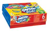 Farby plakatowe 6 kolorów 20 ml New Colorino Kids