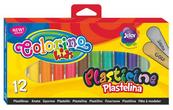 Plastelina 12 kolorów (złota + srebrna) Colorino Kids 42673
