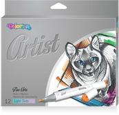 Markery do szkicowania 12 kolorów pastelowe Artist Colorino