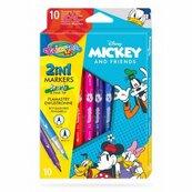 Flamastry dwustronne 10 kolorów Colorino Kids Mickey Myszka Miki