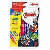 Flamastry dwustronne 10 kolorów Colorino Kids Avengers