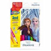 Flamastry dwustronne 10 kolorów Colorino Kids Frozen Kraina Lodu