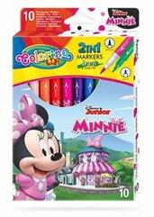 Flamastry dwustronne 10 kolorów Colorino Kids Minnie