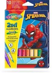 Flamastry dwustronne 10 kolorów Colorino Kids Spiderman