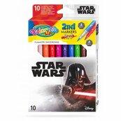 Flamastry dwustronne 10 kolorów Colorino Kids Star Wars