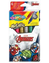 Flamastry 6 kolorów metaliczne Colorino Kids Avengers