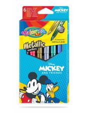 Flamastry 6 kolorów metaliczne Colorino Kids Mickey