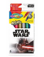 Flamastry 6 kolorów metaliczne Colorino Kids Star Wars