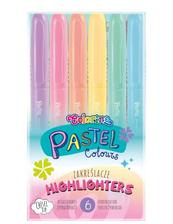 Zakreślacze 6 kolorów pastel Colorino Kids