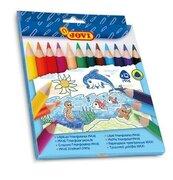 Kredki ołówkowe trójkątne maxi 12 kolorów JOVI
