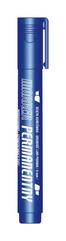 Marker permanentny niebieski końcówka ścięta KM101-NS p12 TETIS, cena za 1szt.