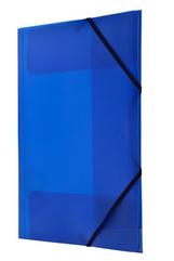 Teczka PP z gumka narożną A4 niebieska