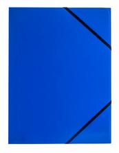 Teczka A4 z gumką narożną niebieska p6, cena za 1szt.