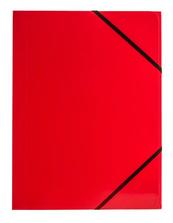 Teczka A4 z gumką narożną czerwona p6, cena za 1szt.